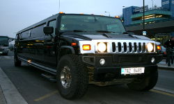 Black Stretch Hummer H200 at Prague Ruzyne Airport