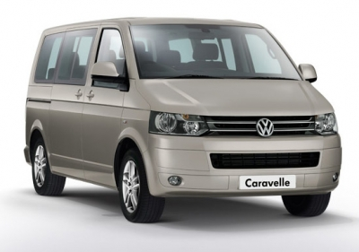 Transfer from Prague to ski resort Desna in new VW Caravelle