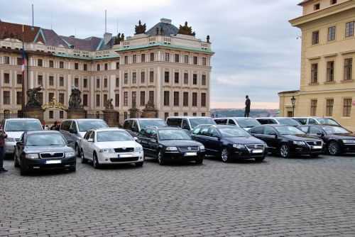 Car fleet at Prague Castle, transfer cars Prague airport
