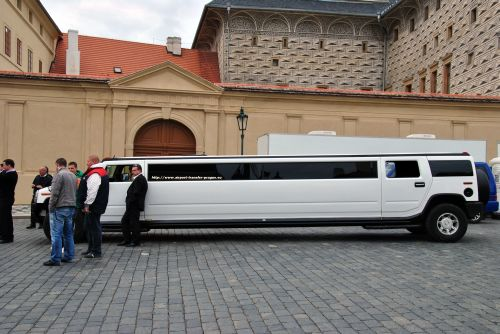 Stretch Hummer at Prague castle - Prague Limo rental