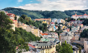 Karlovy Vary - spa town in Czech Republic