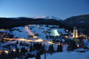 ski resort Pec pod Snezkou night view